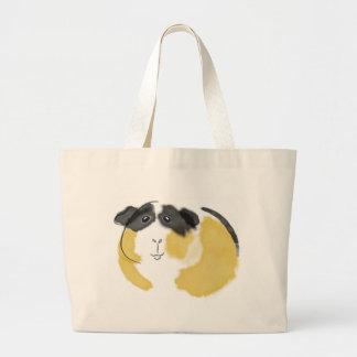 Watercolor Guinea Pig Large Tote Bag