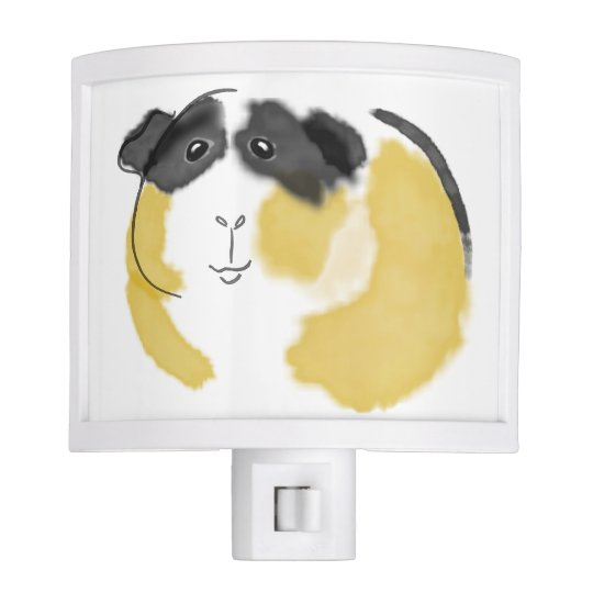 Watercolor Guinea Pig Night Light Zazzle