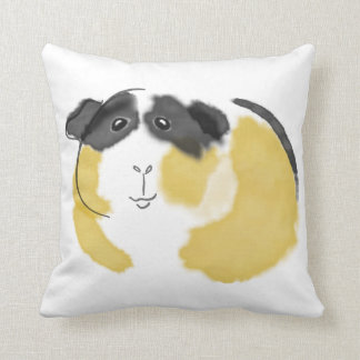 Watercolor Guinea Pig Throw Pillow