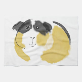 Watercolor Guinea Pig Towel