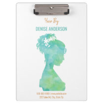 Watercolor Hair Stylist Beauty Salon Personalized Clipboard