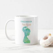 Watercolor Hair Stylist Beauty Salon Personalized Coffee Mug