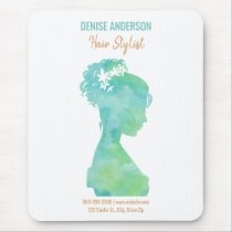 Watercolor Hair Stylist Beauty Salon Personalized Mouse Pad
