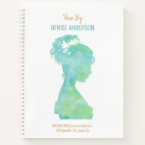 Watercolor Hair Stylist Beauty Salon Personalized Notebook