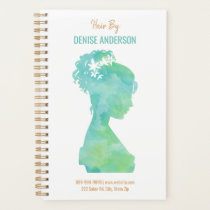 Watercolor Hair Stylist Beauty Salon Personalized Planner