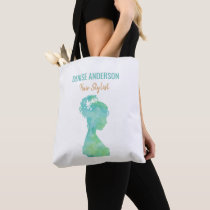 Watercolor Hair Stylist Beauty Salon Personalized Tote Bag