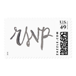 Watercolor Hand Lettering RSVP Postage