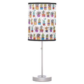 Watercolor hand paint cactus pattern desk lamp