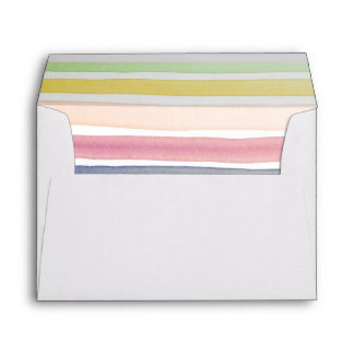 Watercolor hand painted brush strokes, banners. envelopes