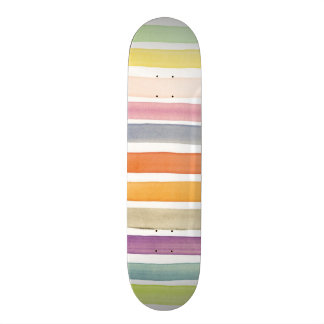 Watercolor hand painted brush strokes, banners. skateboard deck