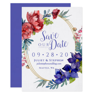 Watercolor Happiness Wedding   Save Our Date Invitation