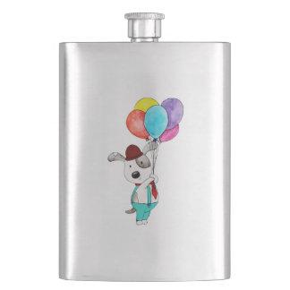 Watercolor Happy Birthday Cute Cartoon Panda Flask