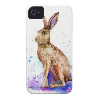 Watercolor hare portrait Case-Mate iPhone 4 case