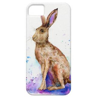 Watercolor hare portrait iPhone SE/5/5s case