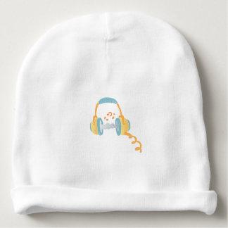 watercolor headphone. baby beanie