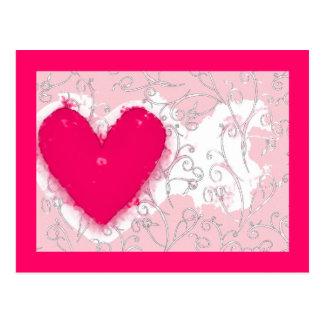 Watercolor Heart Card Postcard