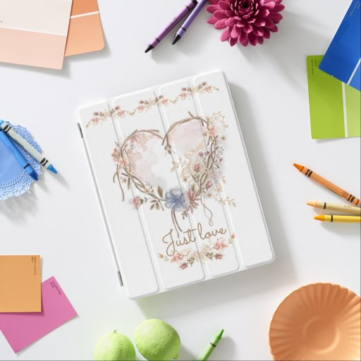 Watercolor heart iPad smart cover