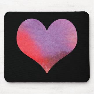 Watercolor Heart Mousepad