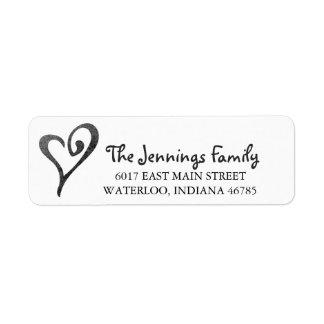Watercolor Heart Return Address Label
