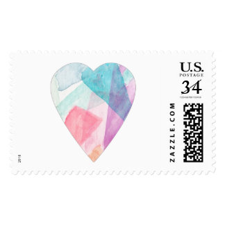 Watercolor Heart Stamp
