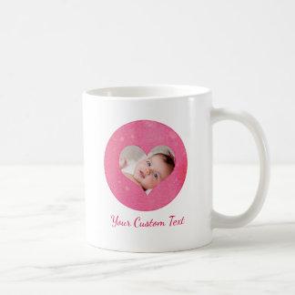 Watercolor Heart Your Custom Baby Photo & Text Coffee Mug