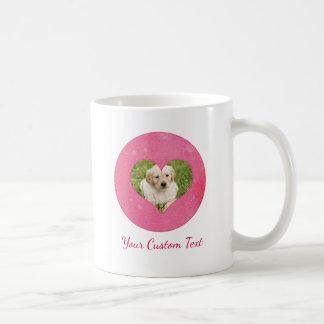 Watercolor Heart Your Custom Dog Photo & Text Coffee Mug