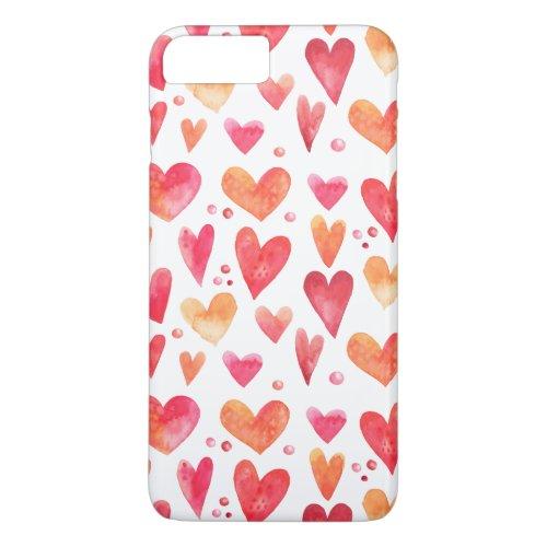 Watercolor HEARTS Phone Case