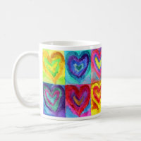 Watercolor Hearts Coffee Mug