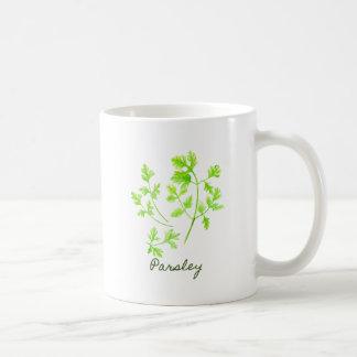 Watercolor Herb Parsley Illustration Coffee Mug