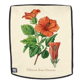 Watercolor Hibiscus Backpack