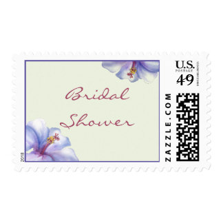 Watercolor Hibiscus Bridal Shower stamps
