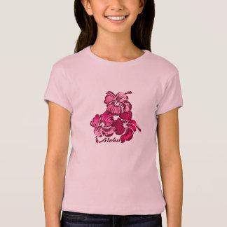 Watercolor Hibiscus Girls Tee