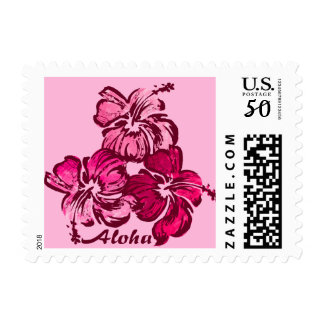 Watercolor Hibiscus Hawaiian Tropical Postage