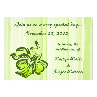 Watercolor Hibiscus Invitation