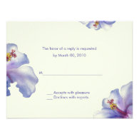 Watercolor Hibiscus reply cards Personalized Invites