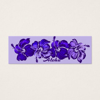 Watercolor Hibiscus Save The Date Bookmark Mini Business Card