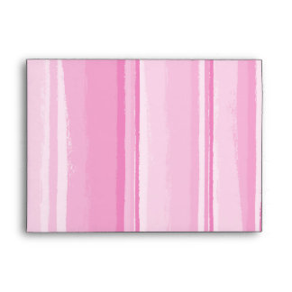 Watercolor Hibiscus Stripes Matching Envelopes