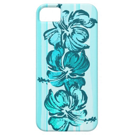 Watercolor Hibiscus Tropical iPhone 5 Cases