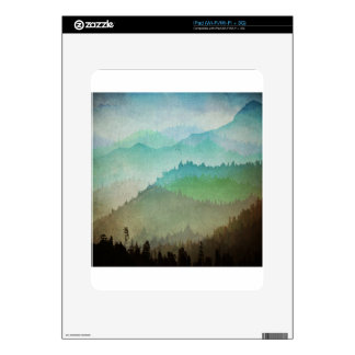 Watercolor Hills Decal For iPad
