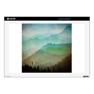 Watercolor Hills Decal For Laptop