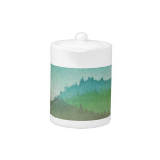Watercolor Hills Teapot