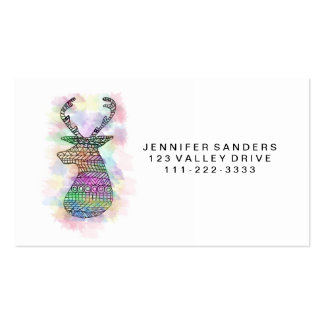 WATERCOLOR HIPSTER TRIBAL DEER PRINT Double-Sided STANDARD BUSINESS CARDS (Pack OF 100)