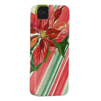 Watercolor Holiday Poinsettia iPhone 4/4s Case