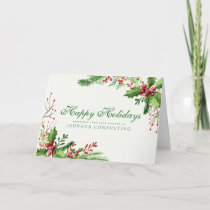 Watercolor Holly | Holiday Greetings