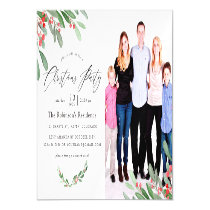 Watercolor Holly Jolly Christmas Party Magnetic Invitation
