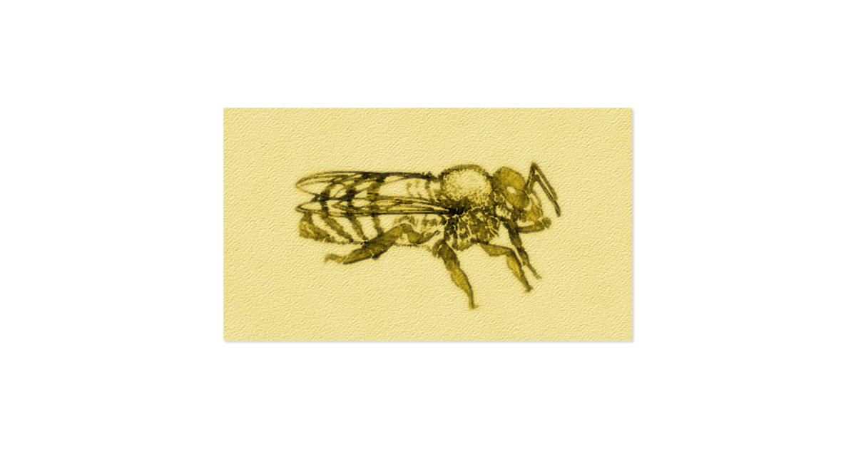 Watercolor honey bee business card zazzle for Bee business cards