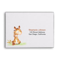 Watercolor Horse Baby Shower Farm Thank You Envelope