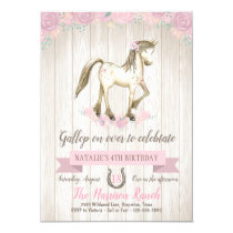 Watercolor Horse Birthday Party Invitation
