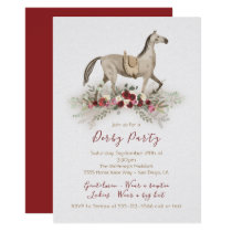 Watercolor horse Derby Party invitations