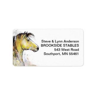 Watercolor Horse Head Address Labels